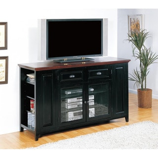 Black/Cherry 62-inch Bookcase TV Stand & Media Console