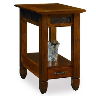 Rustic Oak Chairside Table