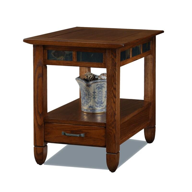Rustic Oak End Table
