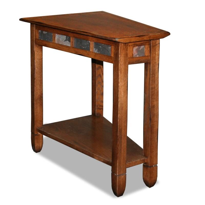 Favorite Finds Rustic Oak and Slate Tile Recliner Wedge