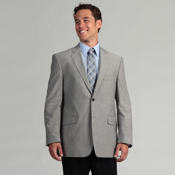 Adolfo Men's 2-button Chambray Sportcoat FINAL SALE