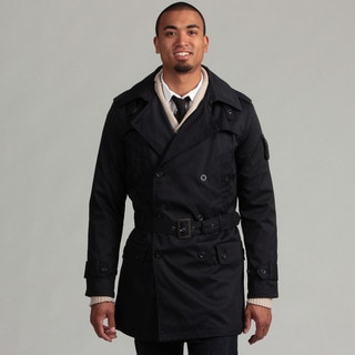 WT02 Men's Double Breasted Trench Coat