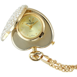 Peugeot Women's 703 Crystal Heart-shaped Pendant Watch