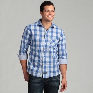 English Laundry Men's Blue Woven Shirt