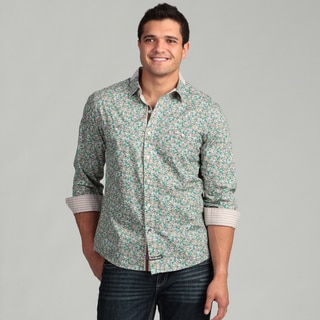 English Laundry Men's Floral Woven Shirt