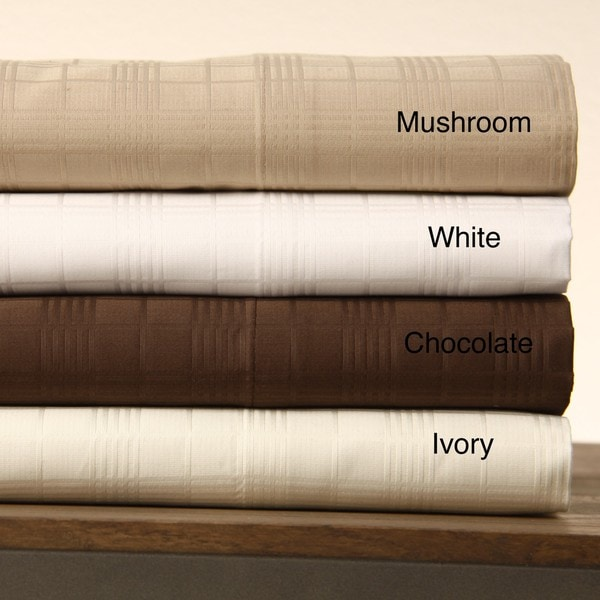 Egyptian Cotton Windowpane 800 Thread Count Sheet Set