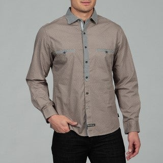 English Laundry Men's Taupe Woven Shirt