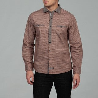 English Laundry Men's Rust Floral Woven Shirt