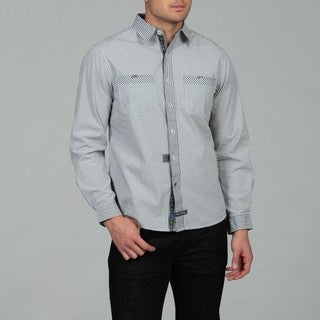 English Laundry Men's Black Woven Shirt
