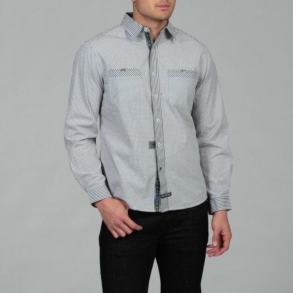 English Laundry Men's Black Woven Shirt