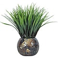 Laura Ashley Grass in Brown and Gold Mosaic Container (Set of 2)