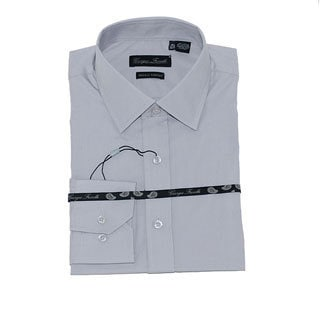 Men's Gray Slim-Fit Dress Shirt