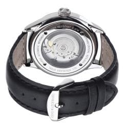 Zeno Men's 'Godat' Silver Dial Black Leather Strap Automatic Watch