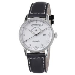 Zeno Men's 'Magellano' Black Leather Strap Automatic Watch
