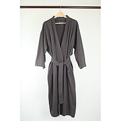 Pure Fiber 100-percent Organic-cotton Kimono-style Belted Bathrobe