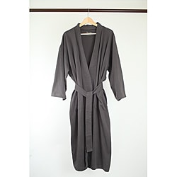 Pure Fiber 100-percent Organic-cotton Kimono-style Belted Bath Robe