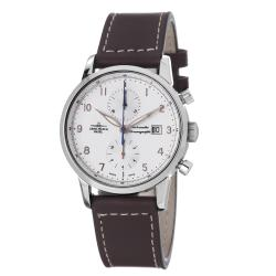 Zeno Men's 'Magellano' Brown Leather Strap Chronograph Automatic Watch