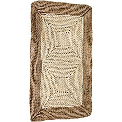 Asian Natural Rush Grass and Maize Rug (2'7 x 1'6)