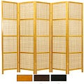 Wood Miyagi Open Lattice 5-panel Room Divider (China)