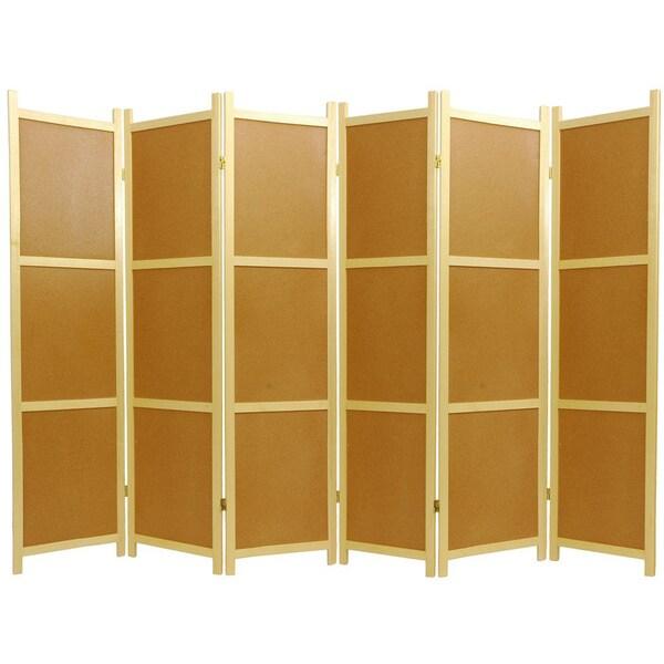 Wood Cork Board 6-panel Room Divider (China)