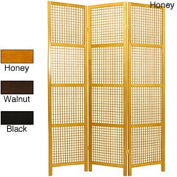 Miyagi Open Lattice 3-panel Room Divider (China)