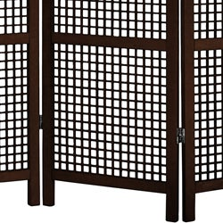 Miyagi Open Lattice 4-panel Room Divider (China)