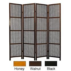 Miyagi Open Lattice 4-panel Room Divider (China)