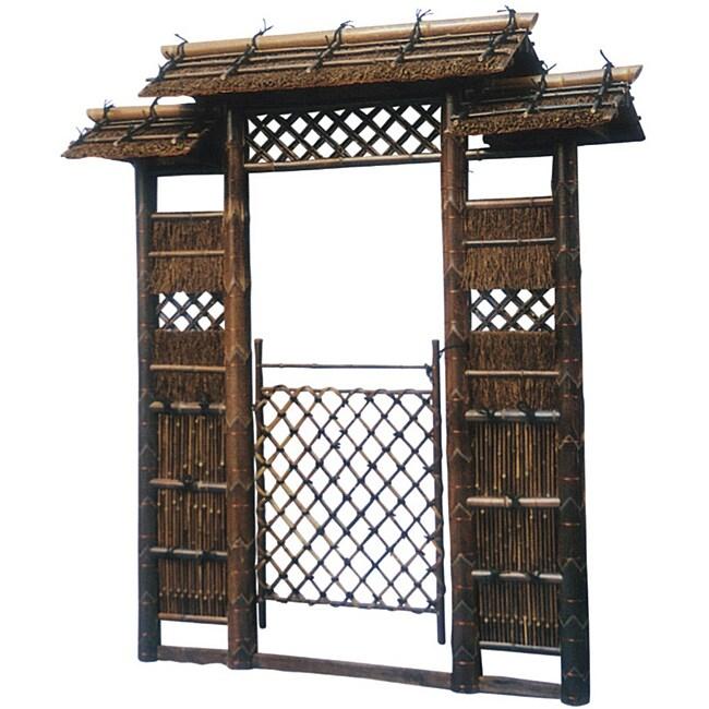 Wood Japanese Style Zen Garden Gate China 14076758
