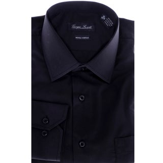 Men's Modern-Fit Dress Shirt, Black