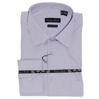 Men's Modern-Fit Dress Shirt, Lavender
