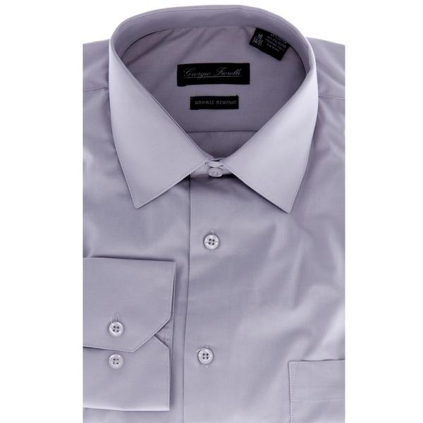 Men's Modern-Fit Dress Shirt, Grey 8779465