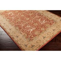 Woven Polypropylene Orange Tutian Rug (5'3 x 7'8)