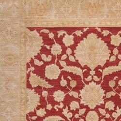 Woven Polypropylene Red Grotto Rug (5'3 x 7'8)