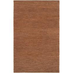 Hand-woven Brown Dominican Natural Fiber Hemp Rug (5' x 8')
