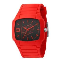 Diesel Unisex Red Silicone Analog Watch