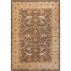 Woven Polypropylene Brown Fees Rug (5'3 x 7'8)