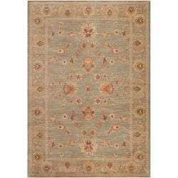 Woven Polypropylene Light Blue Haverford Rug (5'3 x 7'8)