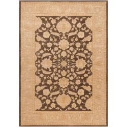 Woven Polypropylene Brown Rank Rug (5'3 x 7'8)