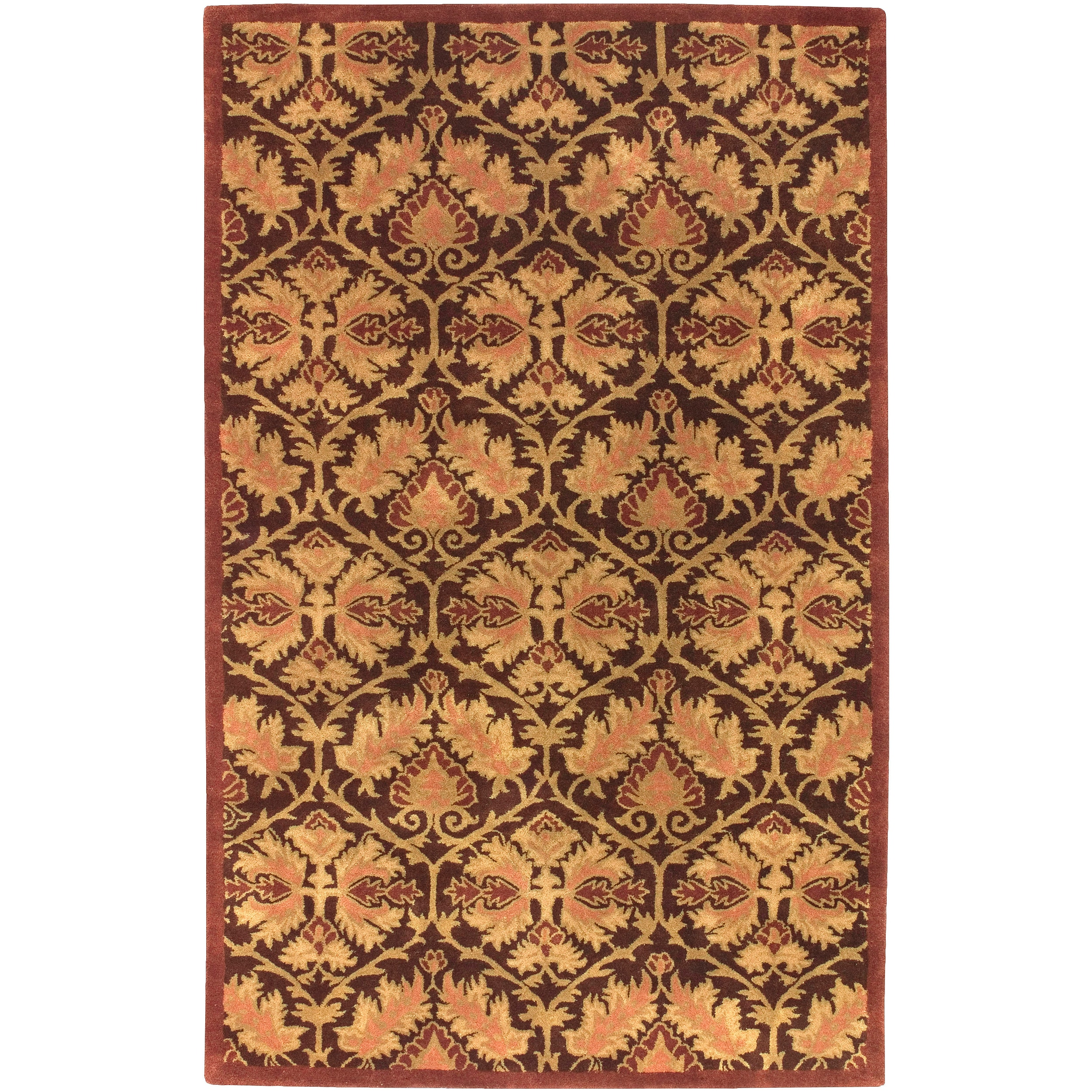 Hand Tufted New Zealand Wool Rust Lowell Rug (2' x 3')