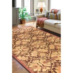 Hand Tufted New Zealand Wool Rust Lowell Rug (2' x 3')