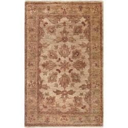 Hand woven Brown Palo Traditional Border Hemp Rug (8' x 11')