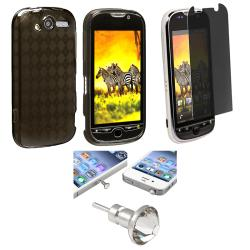 TPU Rubber Skin Case/ Screen Protector/ Dust Cap for HTC MyTouch 4G