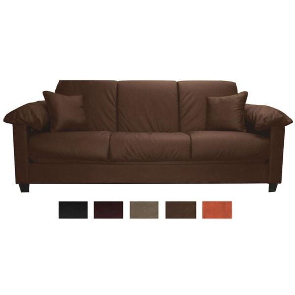 Tango Click Clack Convertible Full-size Microfiber Futon Sofa