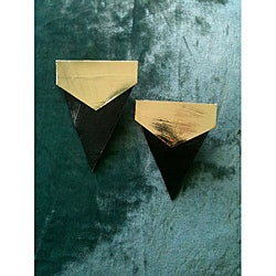 Vintage Royalty Goldplated 'Kelsey' Paper Earrings