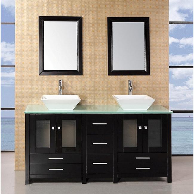 design element aden 61 inch double sink bathroom vanity set 14076981