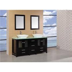 Design Element Aden 61-inch Double Sink Bathroom Vanity Set