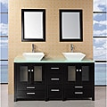Design Element Aden 61-inch Double Sink Bathroom Vanity Set