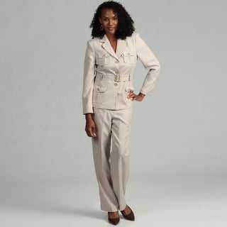 Danillo Women's Stone Belted Pant Suit