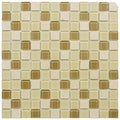 SomerTile 11.5x11.5-inch Chroma Square Olea Glass and Stone Mosaic Tiles (Set of 10)