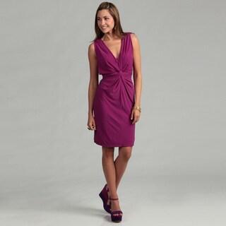 Sandra Darren Women's Raspberry Draped Dress FINAL SALE